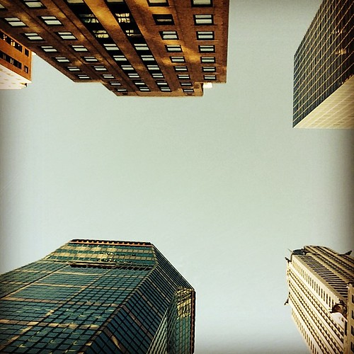 Looking up: once in a while you have to look up to put things in its proper perspective. #mynyc #mynewyork #lookingup #perspectjve #ilovenewyork #midtown