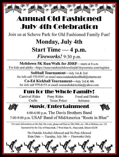 Mascoutah Fireworks 7-4-16