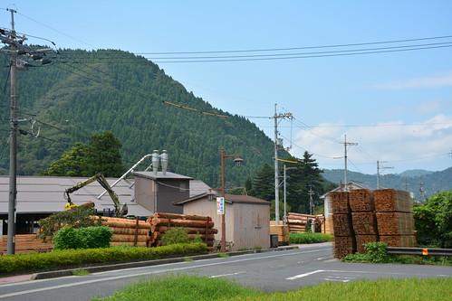 若桜町と木材