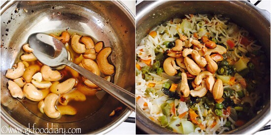 Vegetables Nuts Pulao Recipe for Toddlers and Kids - step 7