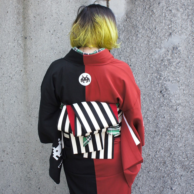 Space Invaders kimono SALZ Tokyo back2