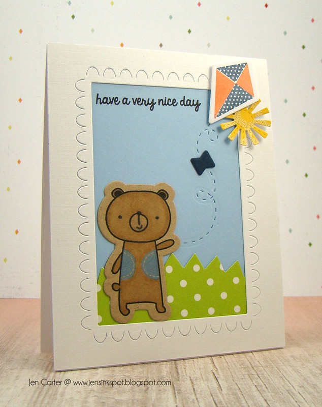 Jen Carter Flying Kite Bear