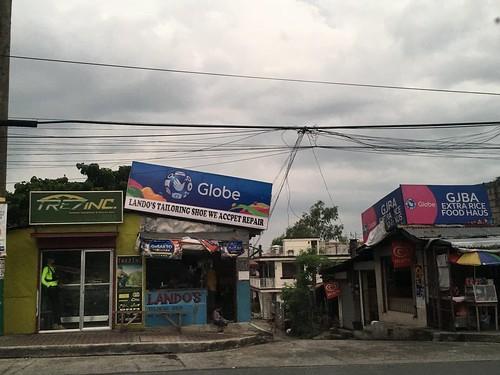 Globe sponsored store signage