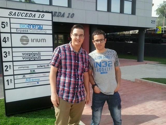 Rodrigo y Jesús en Specialisterne (Junio de 2016)