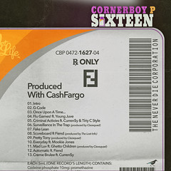 Cornerboy P - Sixteen (Back)