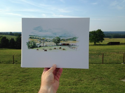 A little farm fresh plein air watercolor.
