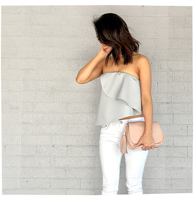 Grey Strapless Top by Keepsake, from Revolve