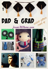 Dad & Grad free crochet pattern round up by Jessie At Home