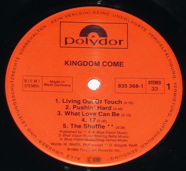 "KINGDOM COME S/T SELF-TITLED 12"" vinyl LP"