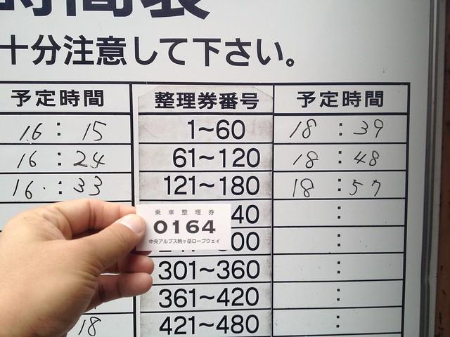 駒ヶ岳ロープウェイ 4時間待ち!