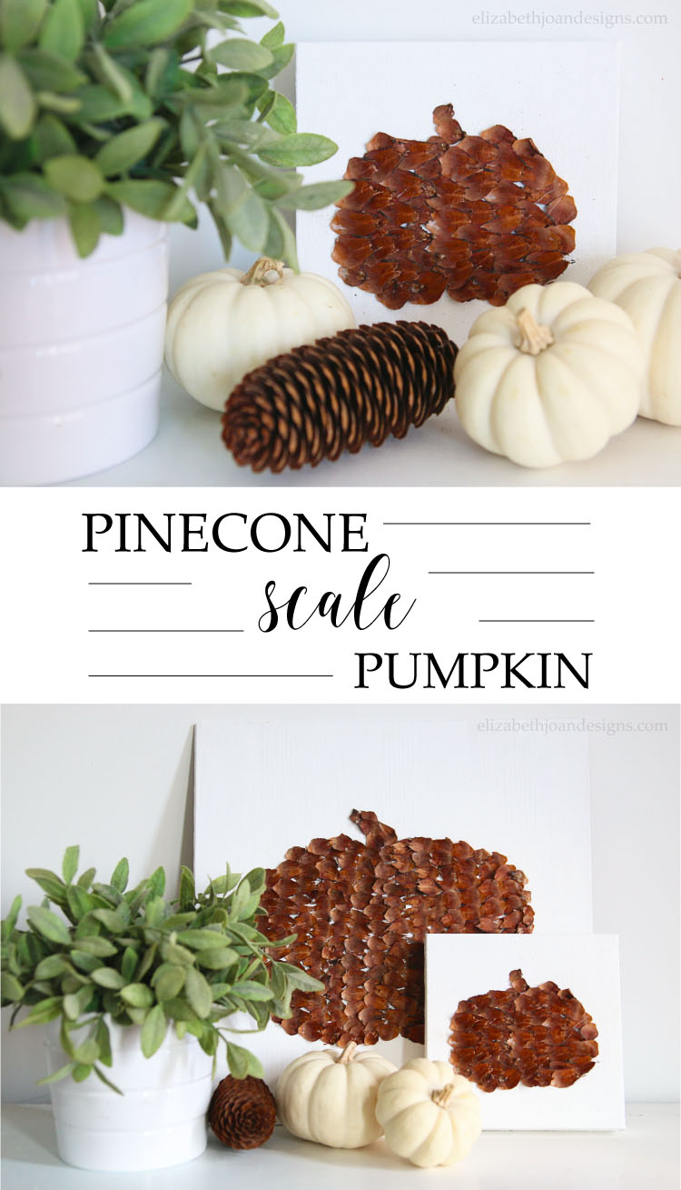 Pinecone Scale Pumpkin that's an adorable 5 minute craft that's a great addition to your fall decor