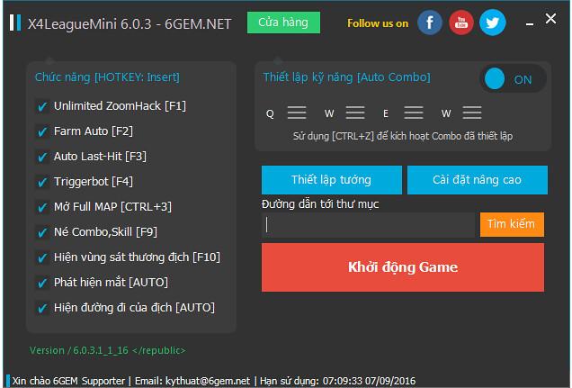 [6GEM.NET] Tool Liên Minh Huyền Thoại giống 90% L# không bị block