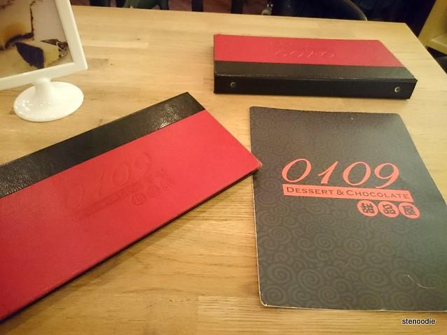 0109 Dessert & Chocolate menu