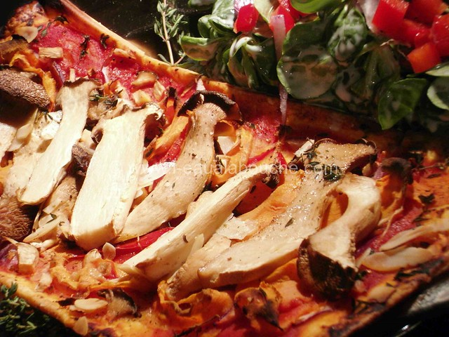 Tarte Fine aux Légumes et Champignons © Ana Luthi  Tous droits réservés  005