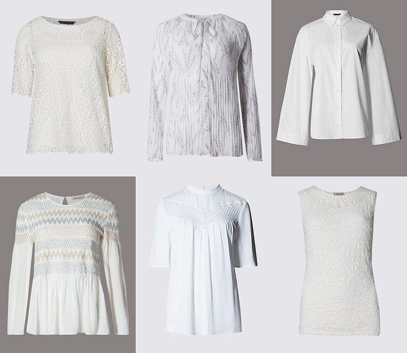 Marks & Spencer white tops SS16