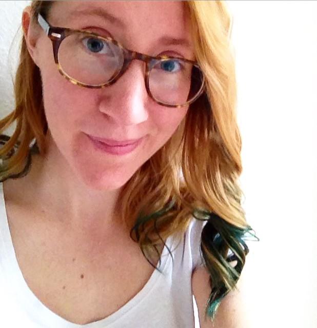 me, green hair, helsingborg
