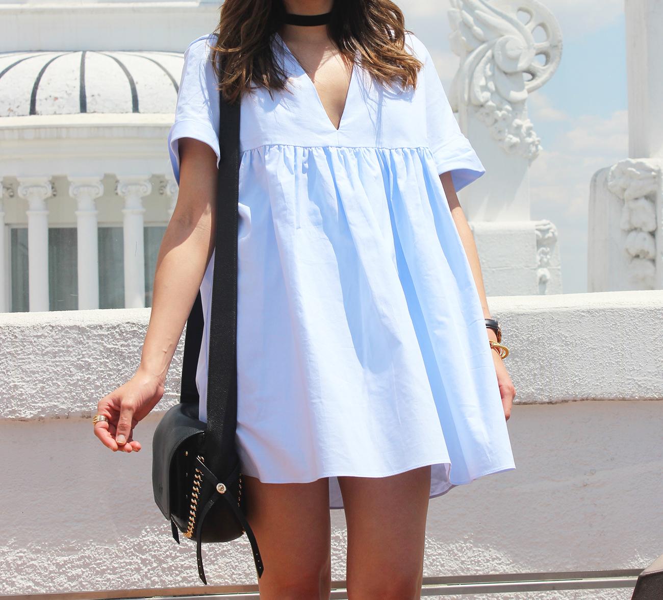 Light Blue Jumpsuit black sandals coach bag aristocrazy accesorries summer outfit05