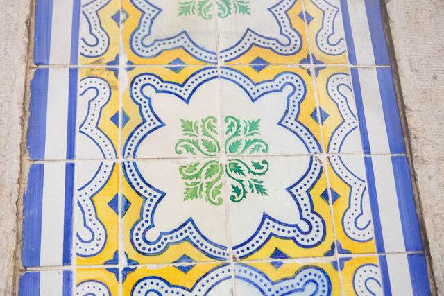 traditional Portuguese tiles in Lisbon