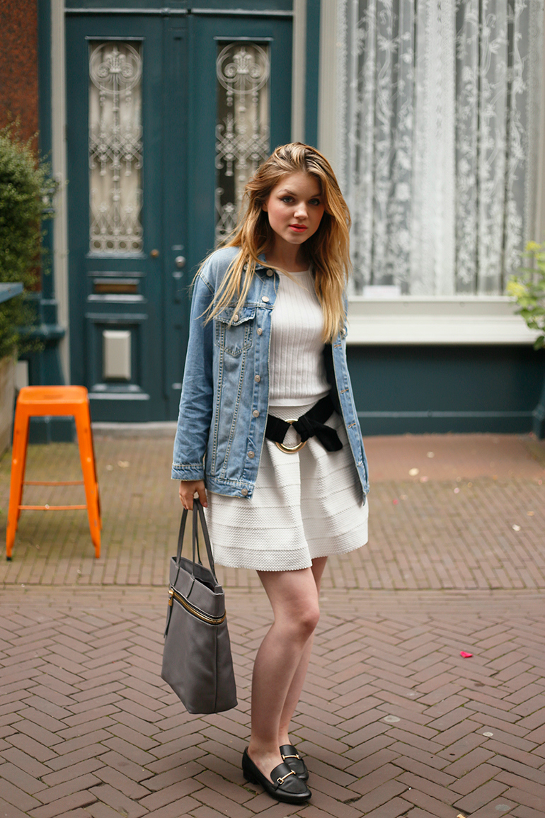 fashion is a party, fashionblogger, republica moda, shopper, handtas, luz da lua, vintage, spijkerjack, denim jack, arnhem, van mij arnhem, winkel, preppy, gesponsorde post, loafers