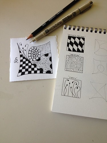 Practicing Zentangle