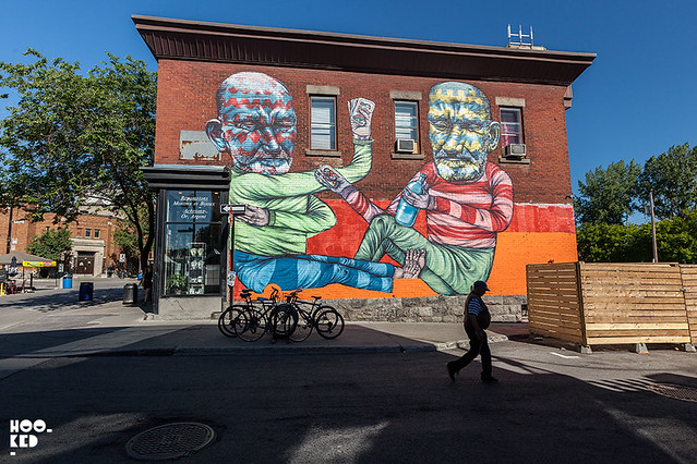 Mural by street artist Other for Mural Festival in Montreal