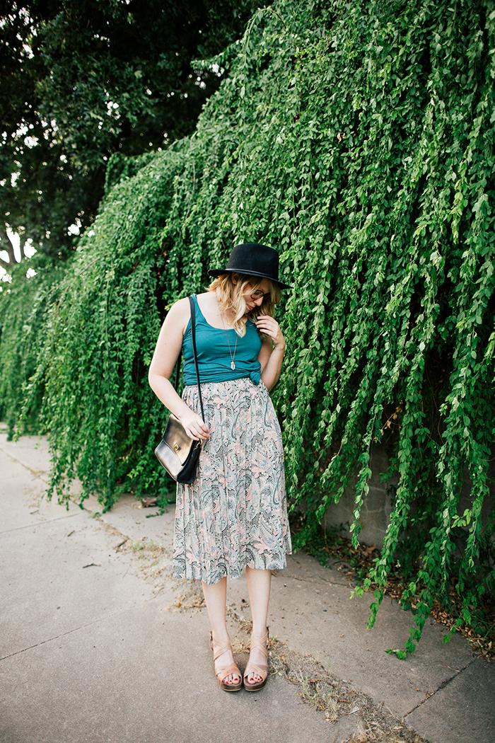 pieceology vintage midi skirt1