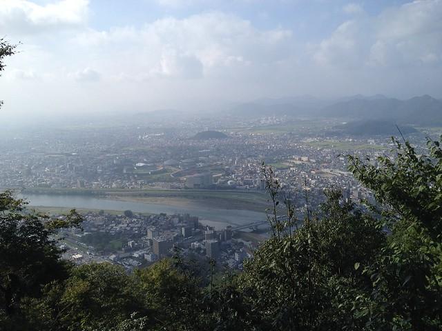 金華山 展望台から岐阜方面の眺め