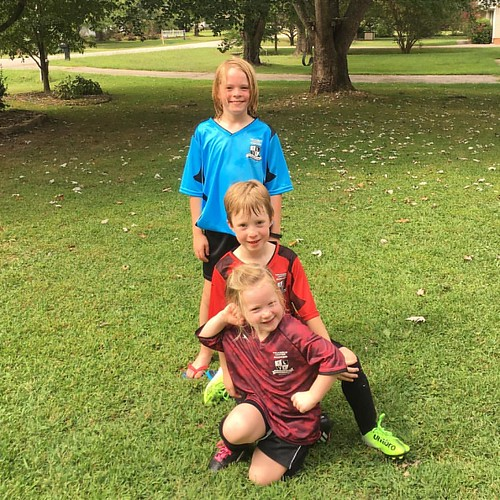 Three wins, four goals! Great start to the Smiths' soccer season. I love watching them play!