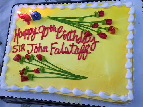 John Watson-Williams 90th Birthday cake - Sir John Falstaff