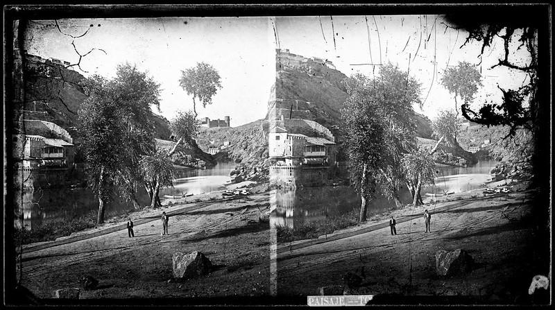 Embarcadero de la Casa del Diamantista en Toledo hacia 1864. Fotografía de Alfonso Begue © Fondo Rodríguez, Archivo Histórico Provincial, Junta de Comunidades de C-LM