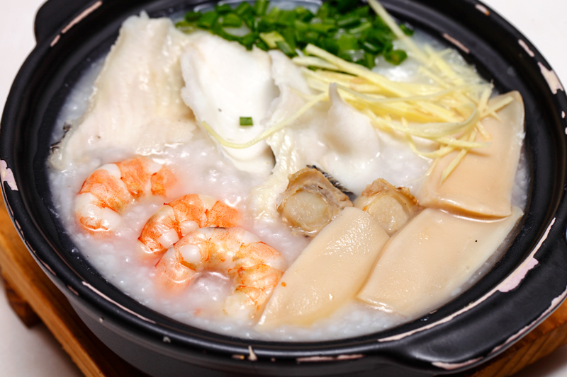 Supreme Congee with Sliced Fish Prawn Scallp and Mock Abalone