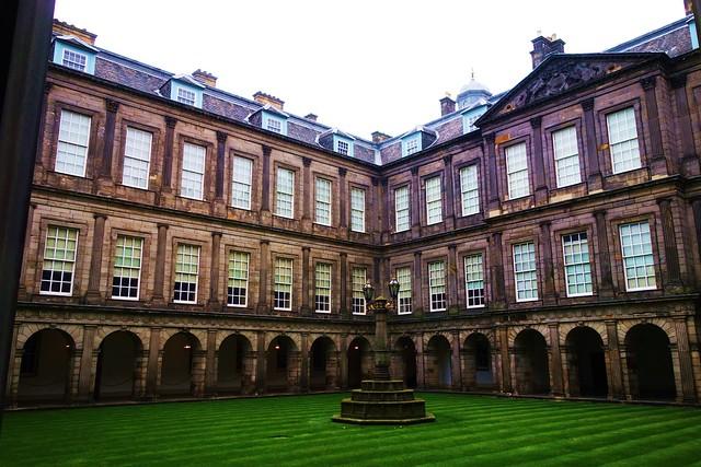 Interior quadrangle at Palace of Holyroodhouse, Edinburgh.