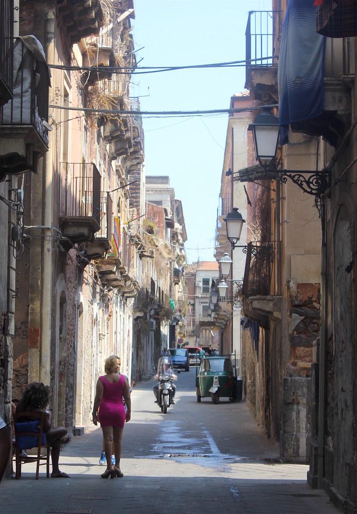 Street art Catania San Berillo red light district Sicily