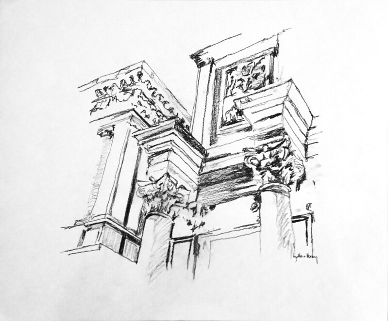 Kleeman drawings NReid-2002 (4) Sansovino's Library and Logetta, Venice