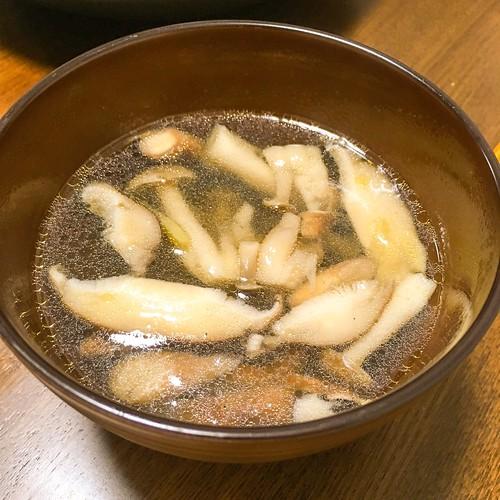 キノコと生姜のスープ