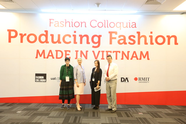 Professor Robyn Healy, RMIT Vietnam President Professor Gael McDonald, Head of the Fashion Department Victoria Ho, and Head of Centre of Communication and Design Professor Rick Bennett