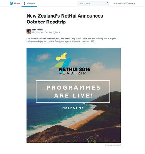 New Zealand's NetHui Announces October Roadtrip