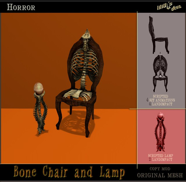 Lilith's Den Bone Chair and Lamp