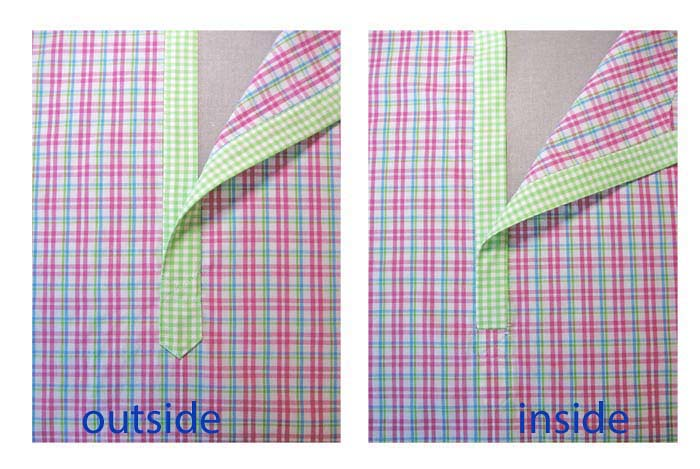 final view side by side with text placket