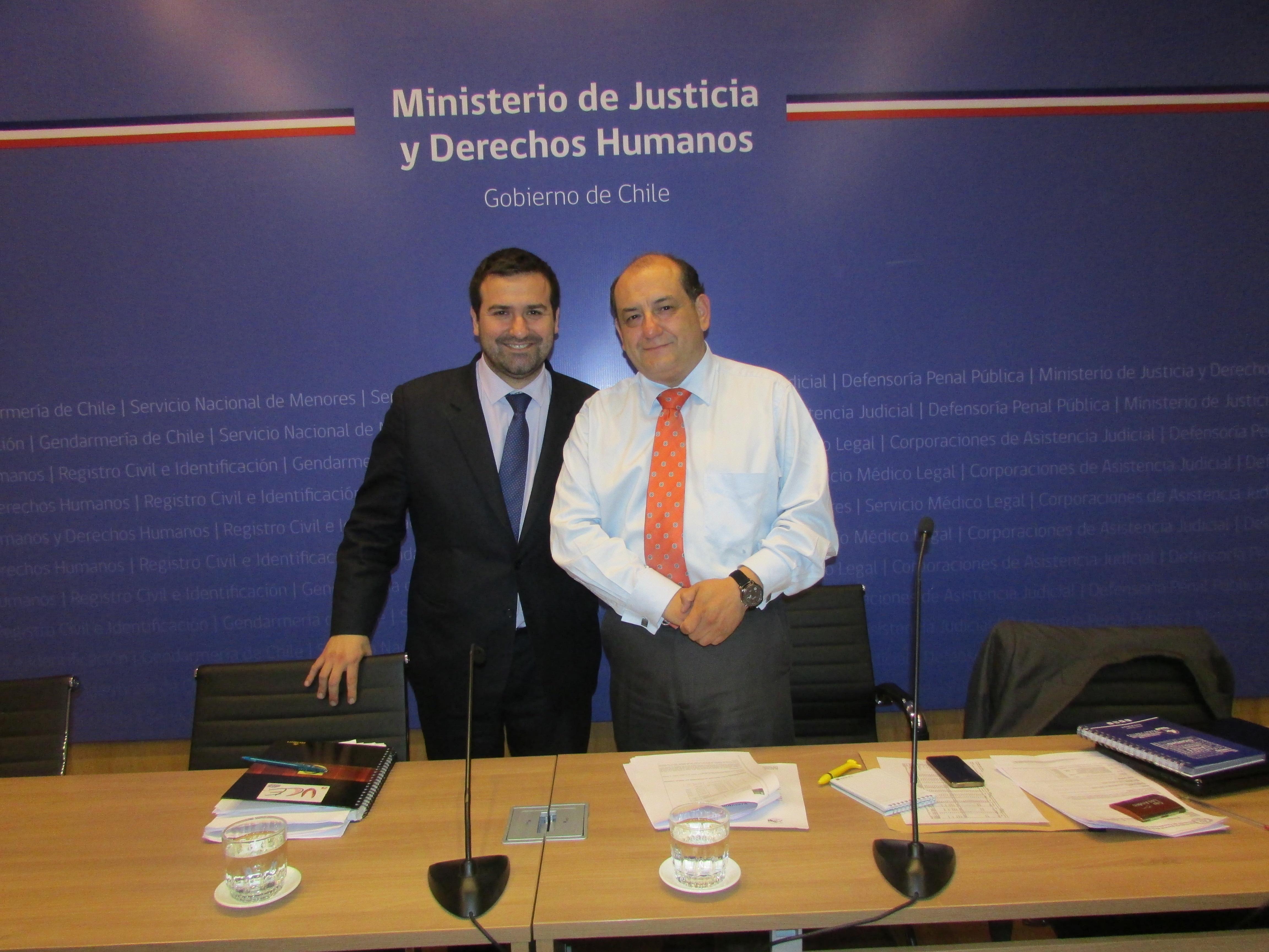 AFUDEP se reúne nuevamente con Subsecretario de Justicia - 03 Junio 2016