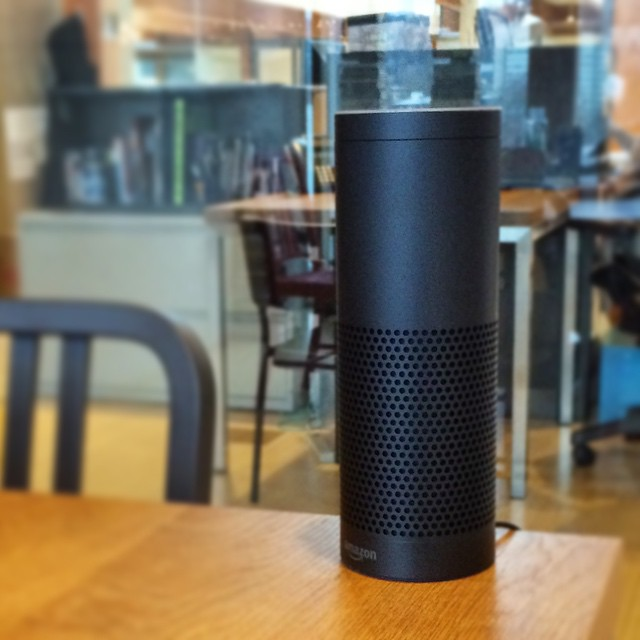 Sitting near an @amazon Echo. Afraid to say anything.