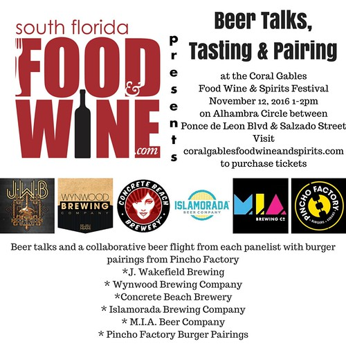 South Florida Food and Wine Beer Talks