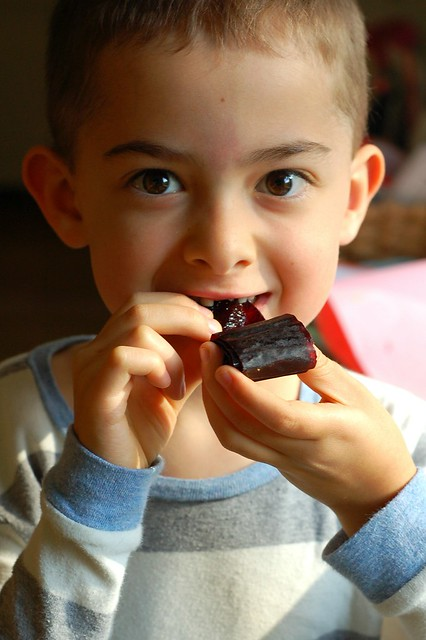 Will eating the first cherry berry fruit leather by Eve Fox, The Garden of Eating, copyright 2016