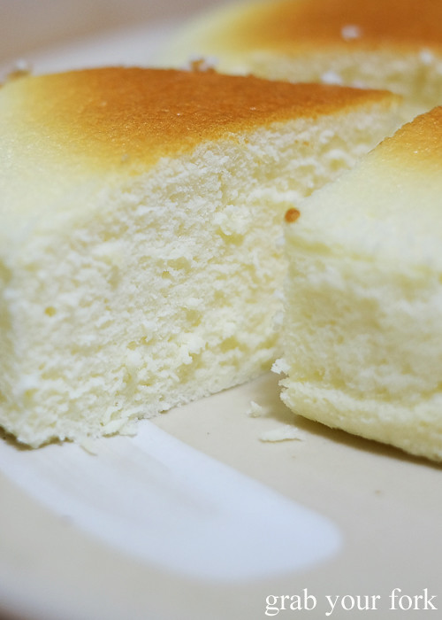 Fluffy texture inside Uncle Tetsu's cheesecake Sydney