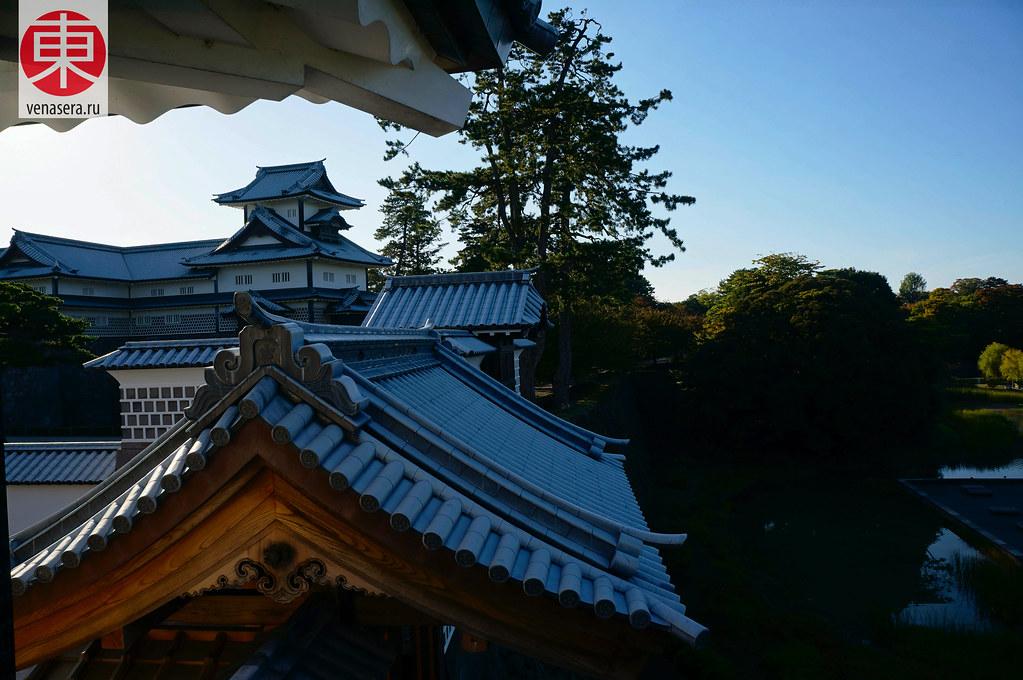 Намари-гавара, 鉛瓦,  Город Канадзава, Kanazawa, 金沢, Замок Канадзава, 金沢城