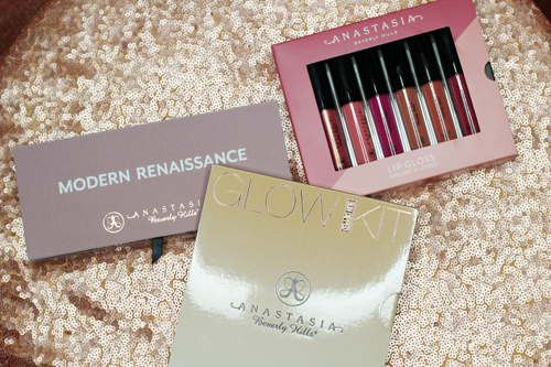 Anastasia Beverly HIlls Sundipped Glow Kit Modern Renaissance Palette Mini Lip Gloss Kit