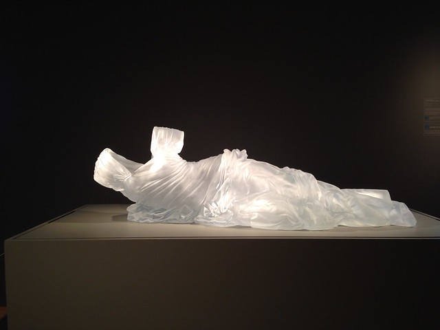 Karen LaMonte, Reclining Dress Impression with Drapery, Hunter Museum of Art, Chattanooga TN