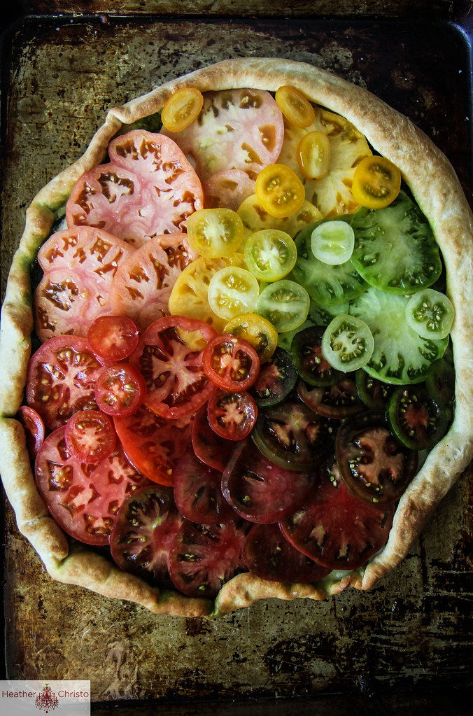 Heirloom Tomato Pizza from HeatherChristo.com