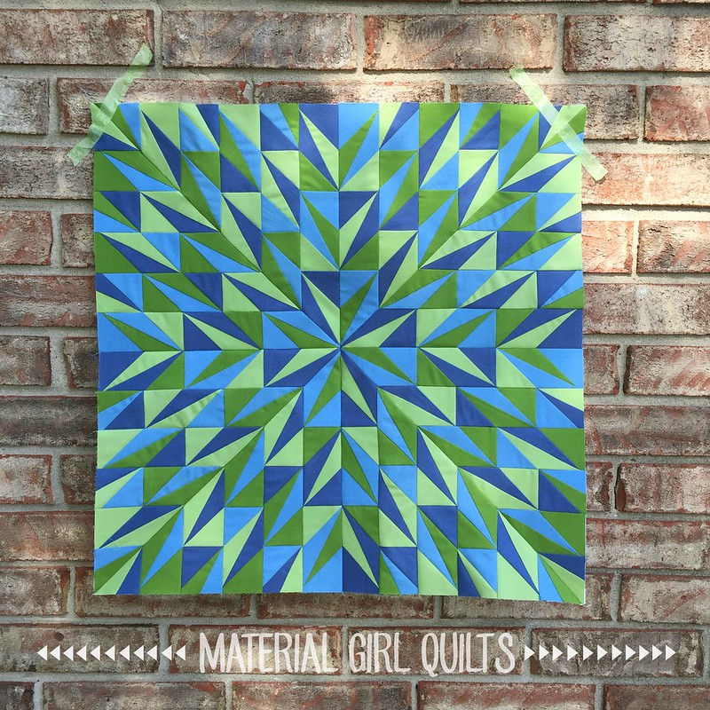 Faceted quilt top