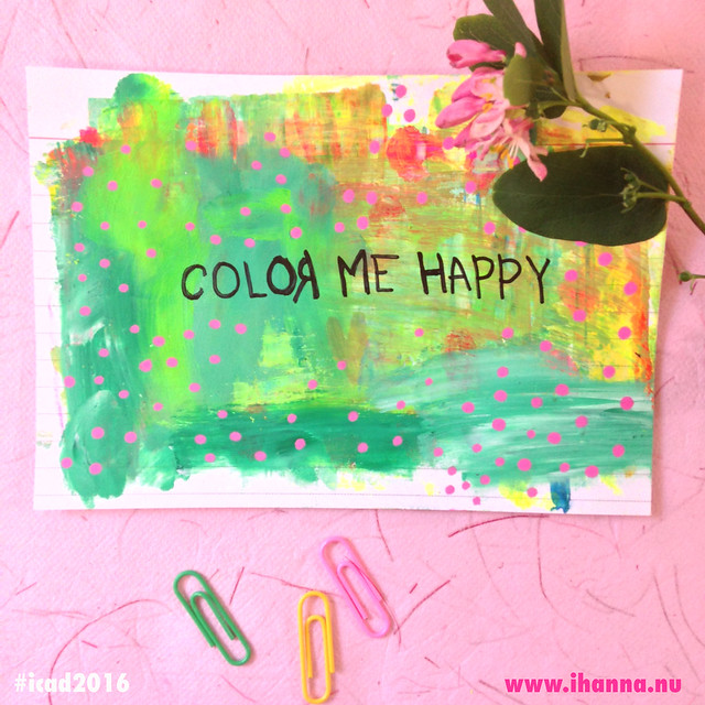 Color me Happy - index card 01